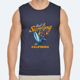 Best Surfing in Cali BaeLolly Men's Athlectic Vest
