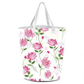 peony pattern-01 Laila All Over Print Laundry Bag