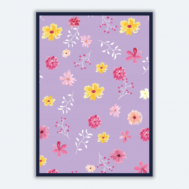 Spring floral watercolor-01 BaeLolly A3 Poster Frame