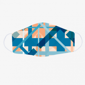 Abstract Geometric Pink Blue Orange Face Mask BaeLolly Emma Face Mask