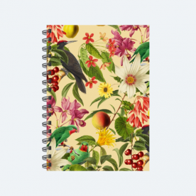 Green Parrot Woodland Soul Collection BaeLolly Unruled Notepad