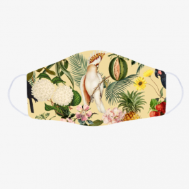 Colorful Cockatoo Woodland Soul Collection BaeLolly Emma Face Mask