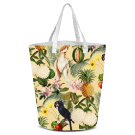 Colorful Cockatoo Woodland Soul Collection Laila All Over Print Laundry Bag