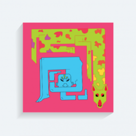 Pet BaeLolly Square Canvas Frame