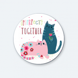 Purrfect BaeLolly Round Button Badge Pack Of 4