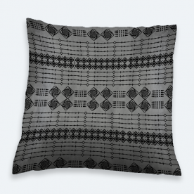 B&W Boho Square Satin Throw Pillow Without Insert