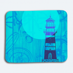 Nautical Print BaeLolly Mouse Pad