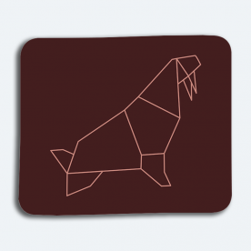 Geometric Seal BaeLolly Mouse Pad