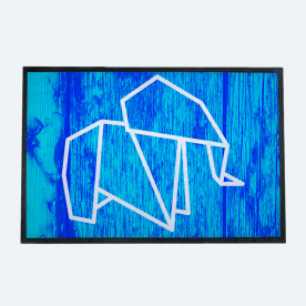 Origami Elephant Outdoor Mat