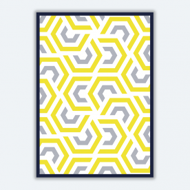 Abstract Geometry BaeLolly Poster Frame