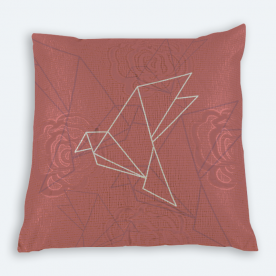 Geometric Bird Square Brasso Jacquard Throw Pillow Without Insert
