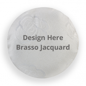 Round Brasso Jacquard Throw Pillow Without Insert