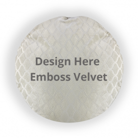 Round Embossed Velvet Throw Pillow Without Insert
