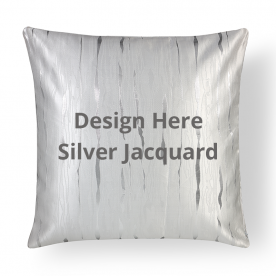 Square Silver Jacquard Throw Pillow Without Insert