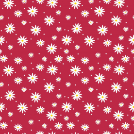 daisies red-01 Intricate Dobby Emma Sarong