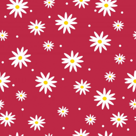 daisies red-01 Indoor Fleece Mat