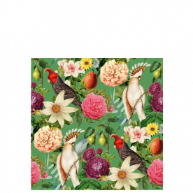Fruit with flower and bird Laila All Over Print Laundry Bag