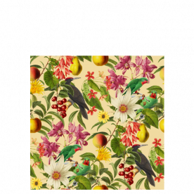 Green Parrot Woodland Soul Collection Laila All Over Print Laundry Bag