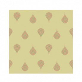 Geometric Leaf Indoor Fleece Mat
