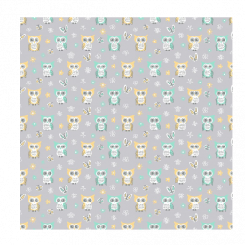 Sweet-quiet-gender-neutral-owls-gray-yellow-aqua-baby-child-kids Square Textured Throw Pillow Without Insert