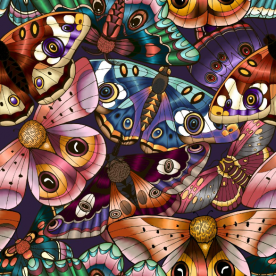 Butterflies Leatherette Eco Wall Mural