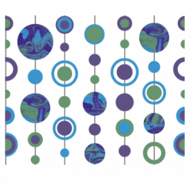 Marbled Spots Blue, Green, Purple Indoor Fleece Mat