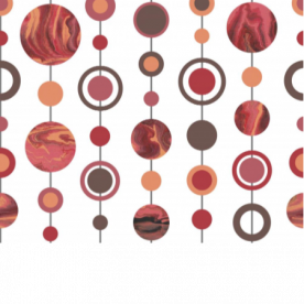 Marbled Spots Salmon Pink, Brown, Red, Orange Outdoor Mat