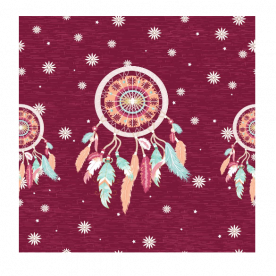 Starry dream catcher Indoor Fleece Mat