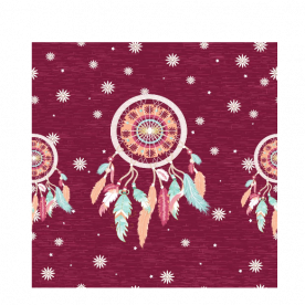 Starry dream catcher Piper  Small Satin Bed Runner
