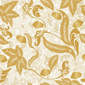 Golden lace Polly Striped Wall Tapestry