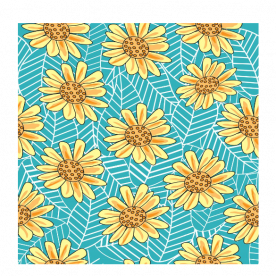 Sunflower pattern Rozzby Foam Mouse Pad