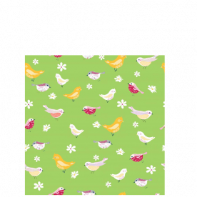 bird pattern pea green-01 Laila All Over Print Laundry Bag